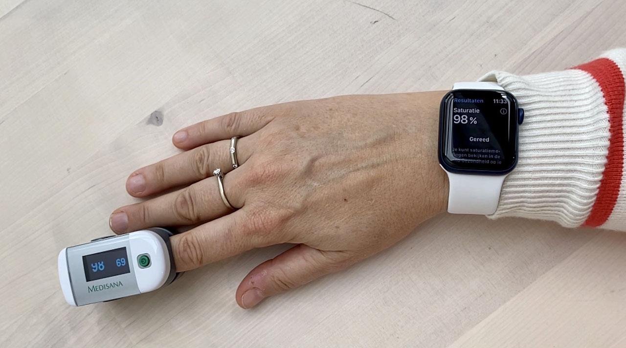 Saturatiemeter gebruiken op Apple Watch Series 6