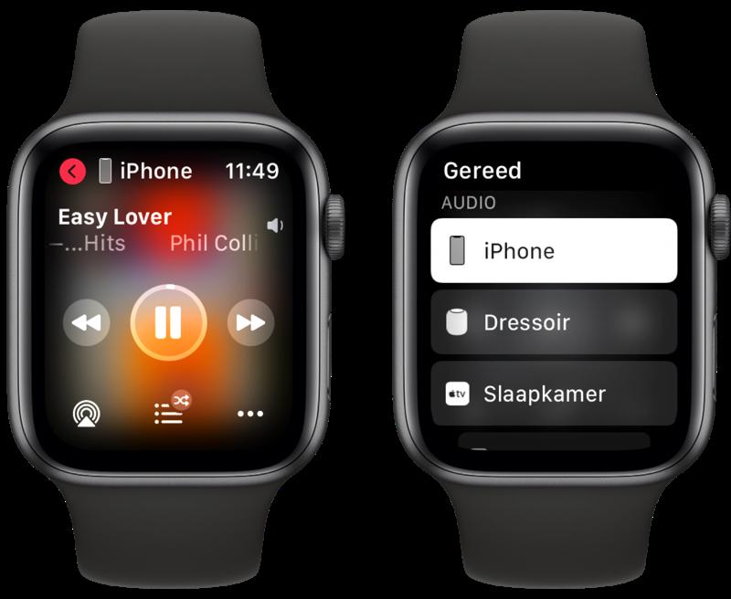 AirPlay op Apple Watch.