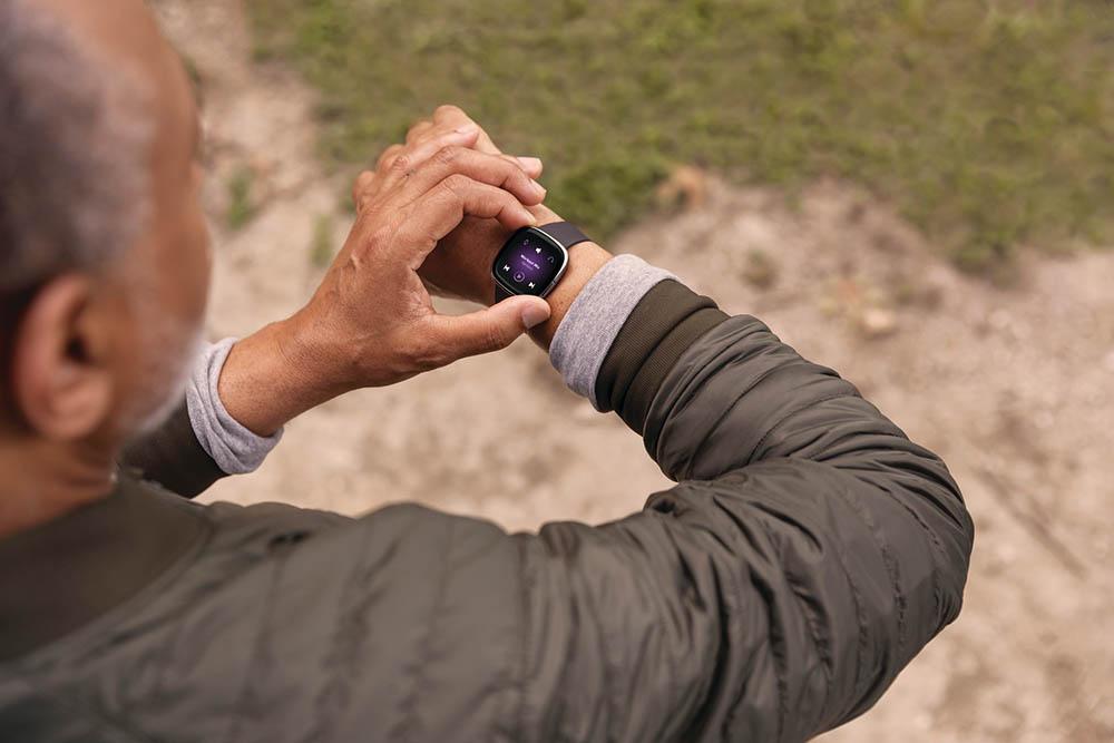 Fitbit Sense in gebruik