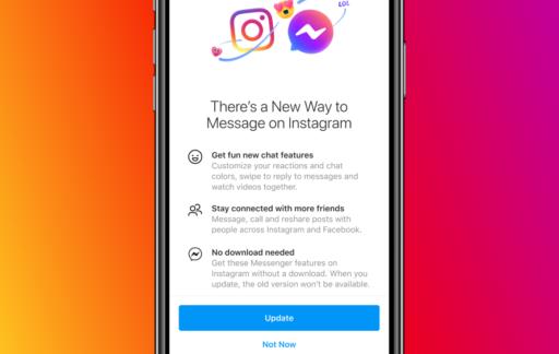 Instagram DM en Facebook Messenger geïntegreerd.
