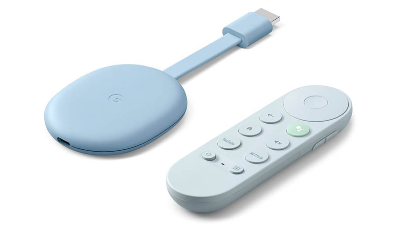 Google Chromecast blauw