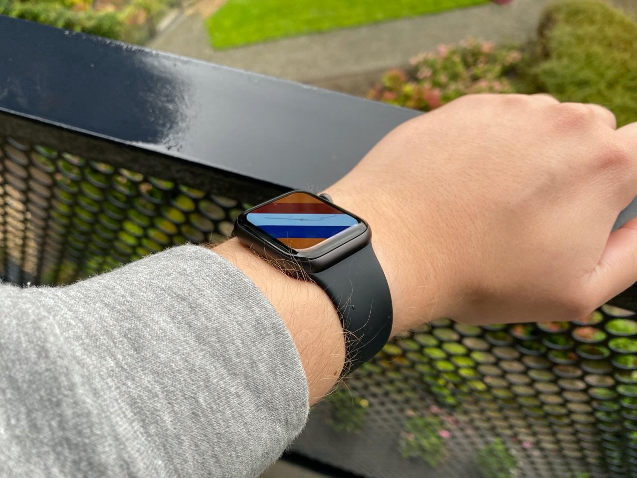 Apple Watch SE review: wijzerplaat buiten.