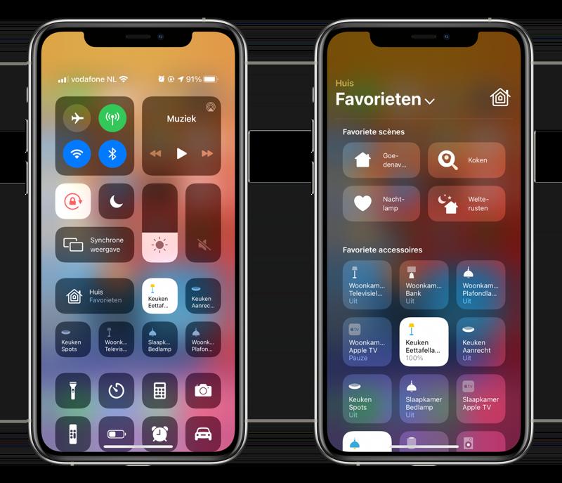 HomeKit in het Bedieningspaneel in iOS 14.