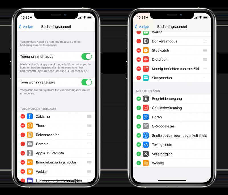 Bedieningspaneel aanpassen in iOS 14.