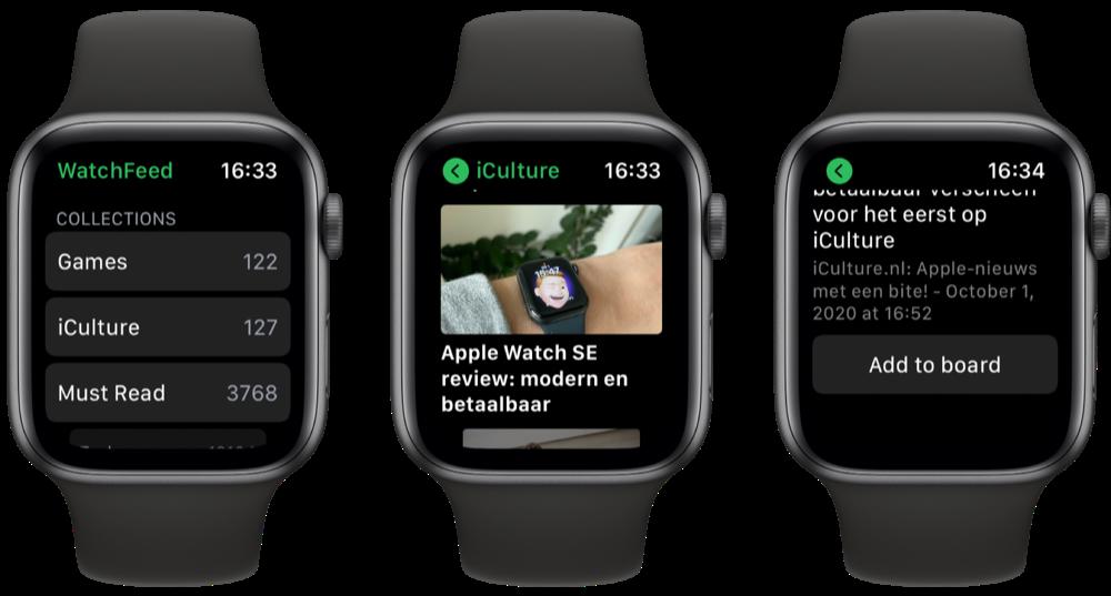 WatchFeed: Feedly op Apple Watch.
