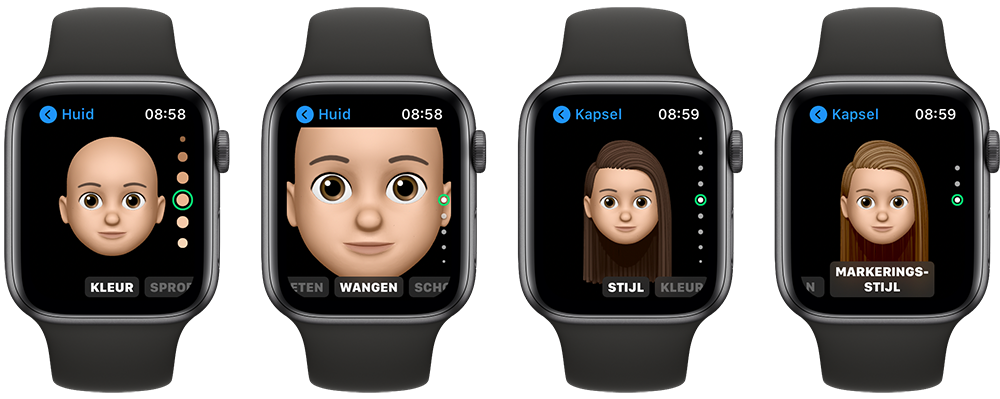 Memoji maken op Apple Watch