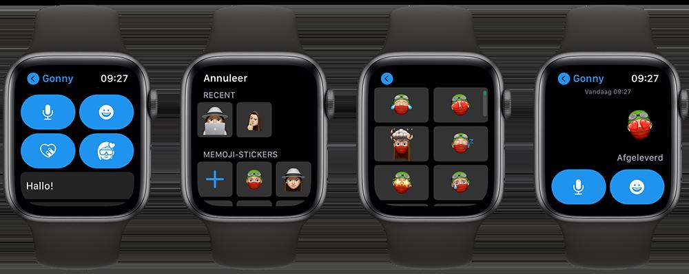 Memoji-stickers op de Apple Watch gebruiken