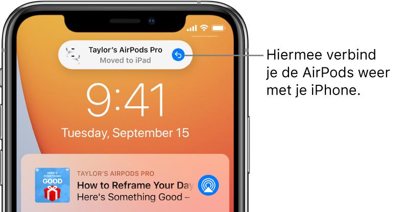 Automatisch wisselen van AirPods ongedaan maken.