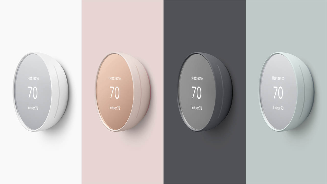Nest Thermostat 2020 kleuren