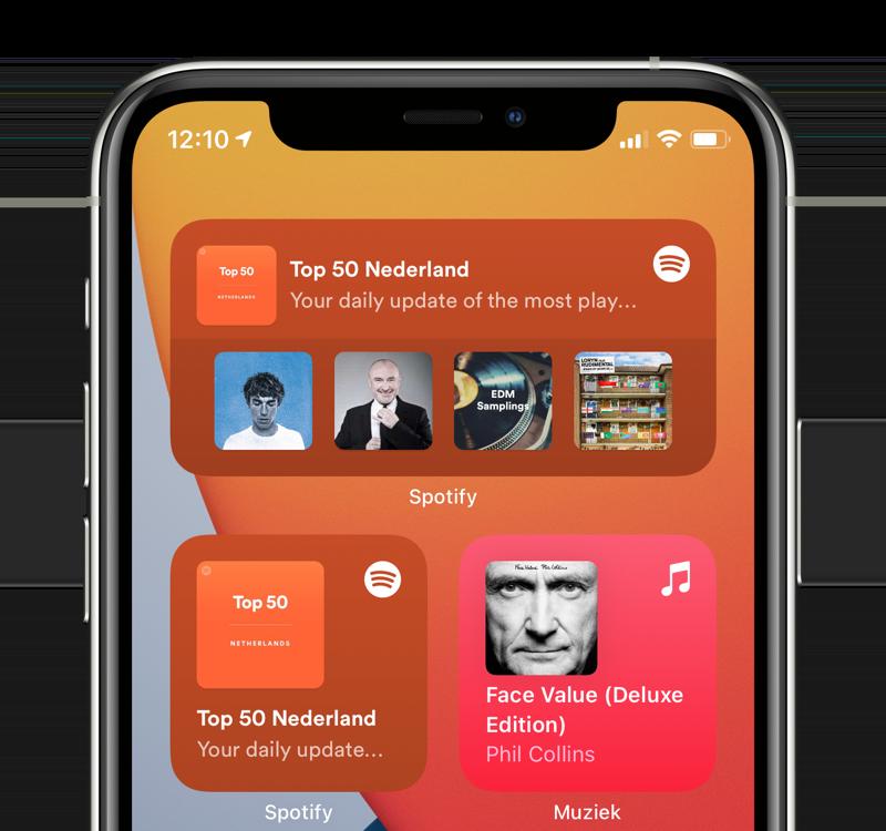 Spotify widget in meerdere formaten.