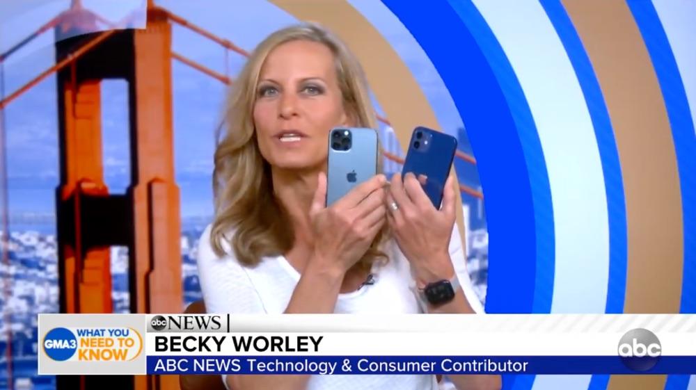 iPhone 12 blauw: pro vs gewoon bij Good Morning America.
