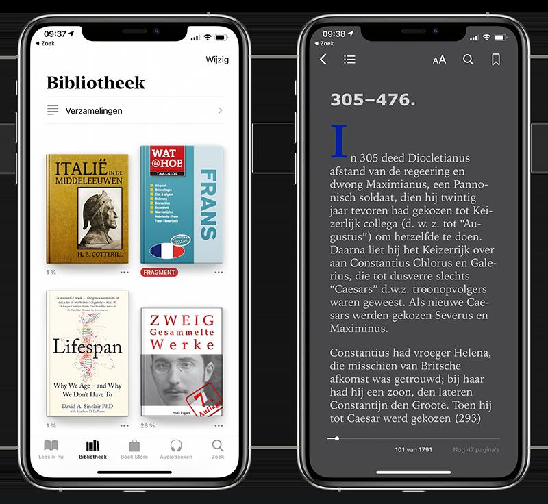 eBook lezen in Boeken-app