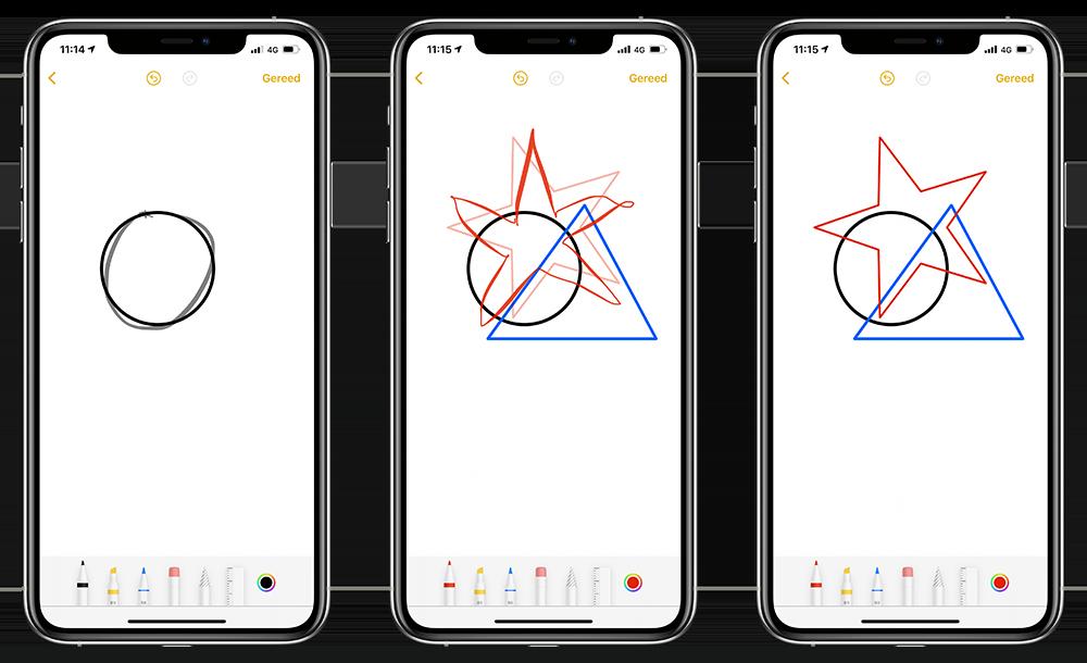 Vormherkenning in iOS 14