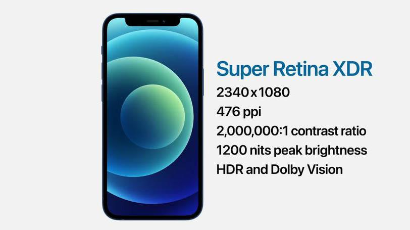 Apple Super Retina XDR in iPhone 12