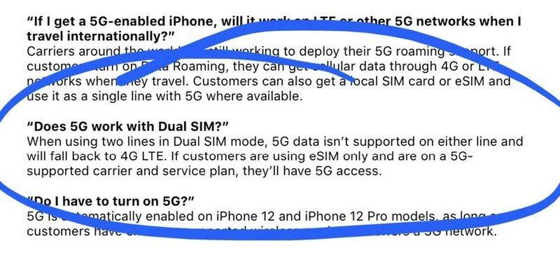 5G met dualsim op iPhone 12.