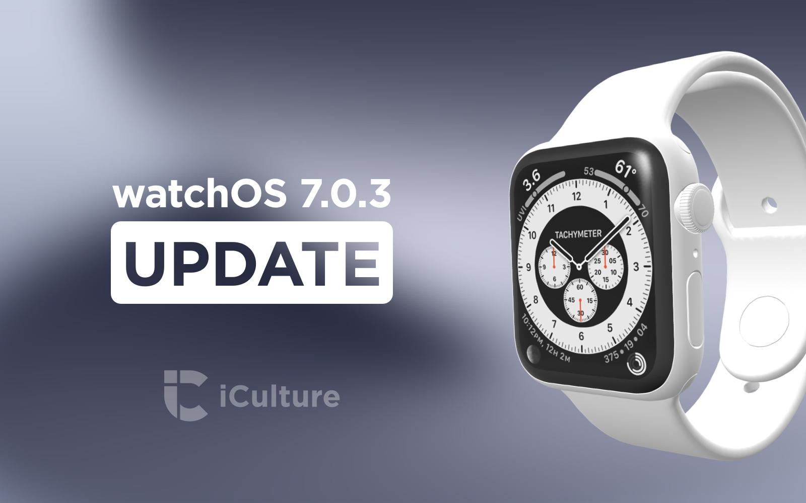 watchOS 7.0.3 Update.