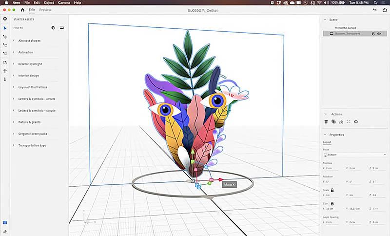 Adobe Aero desktop voor AR