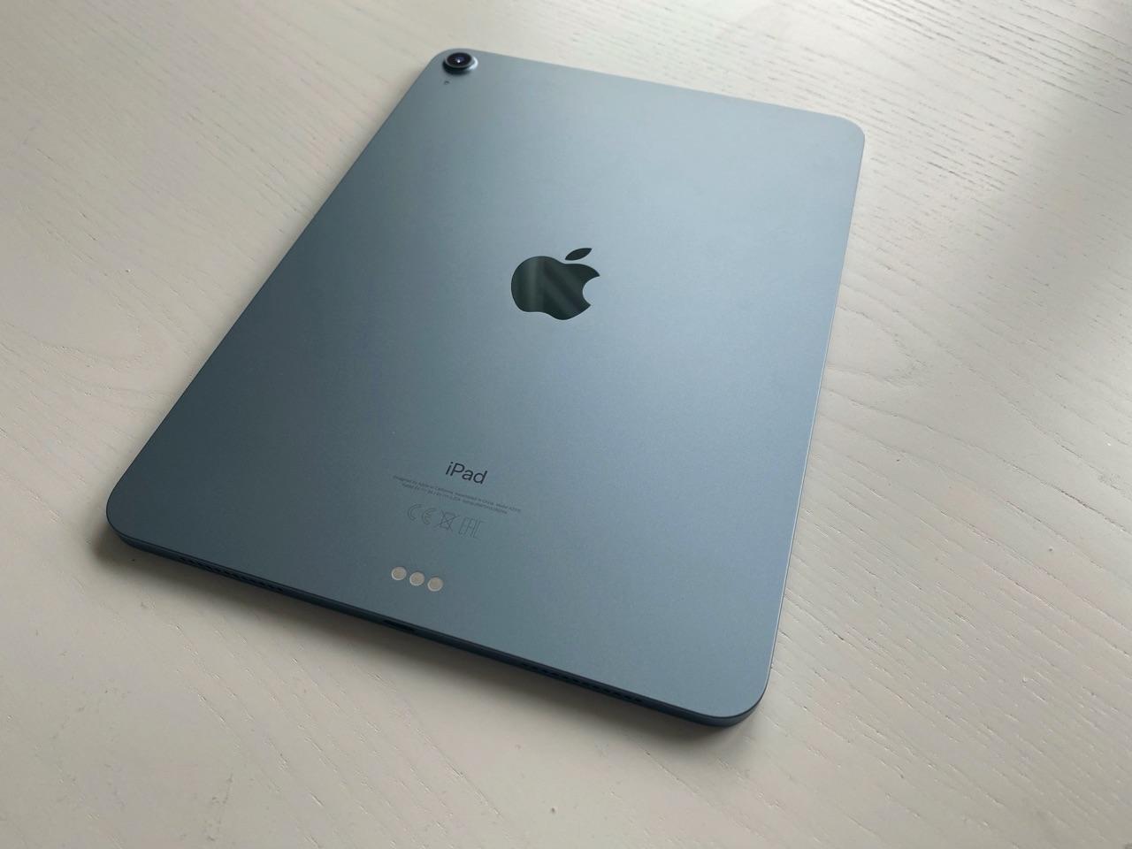 iPad Air 2020 review: design vanaf de achterkant.