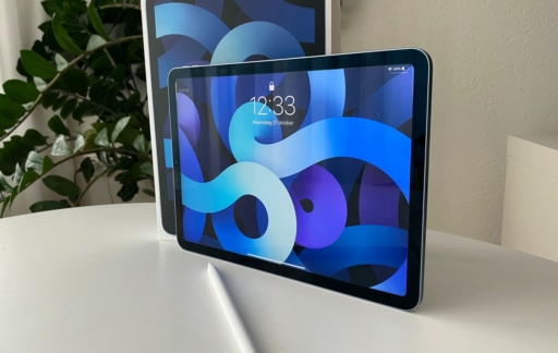 iPad Air 2020 review met doos.