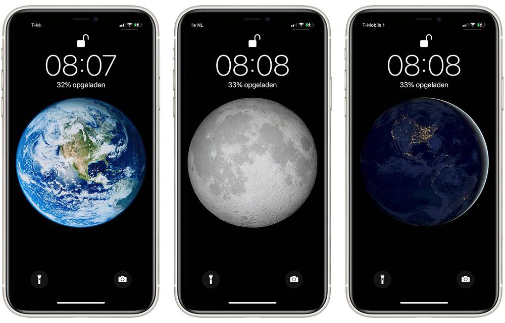 Wallpapers met aarde en maan