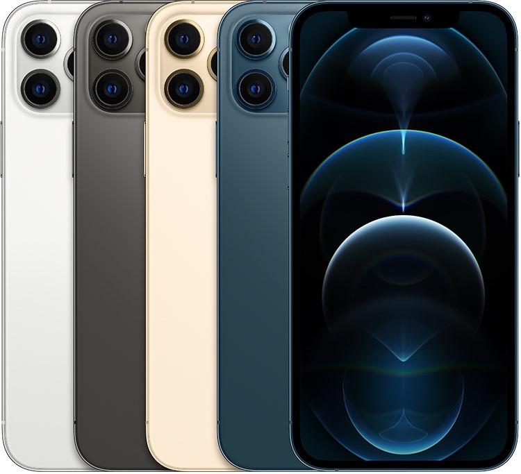 iPhone 12 Pro kleuren in stapel.