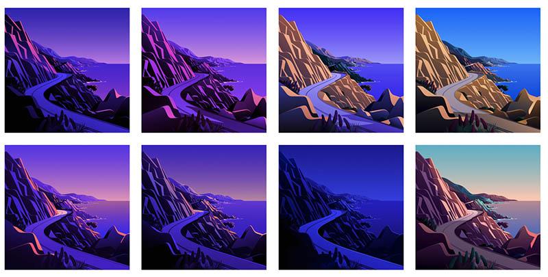 Big Sur 11.0.1 wallpapers tekeningen