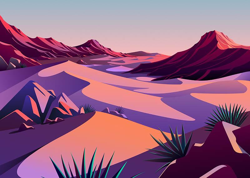 Desert wallpaper in Big Sur