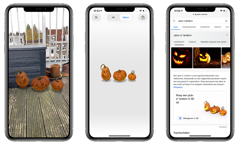 Halloween monsters in Google