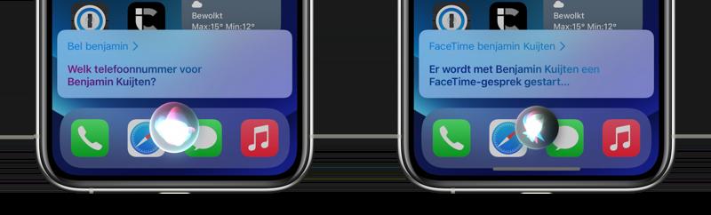 Met Siri bellen en FaceTimen.