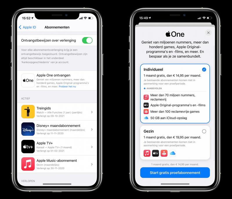 Apple One aanmelden.