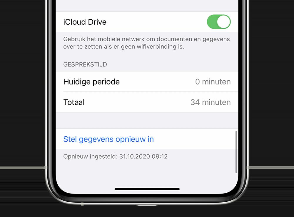 iCloud Drive dataverbruik