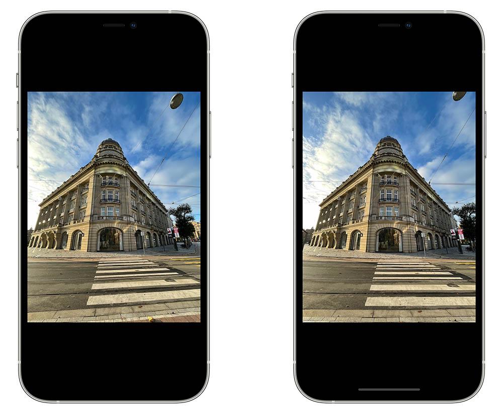 Lenscorrectie iPhone camera