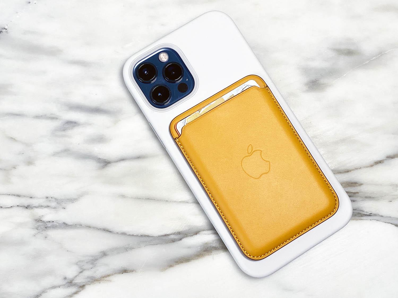 Apple leren kaarthouder geel review