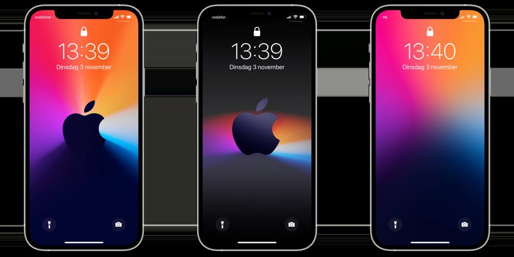 Wallpapers voor iPhone van Mac november 2020-event.