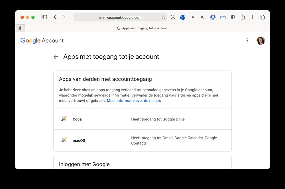 Apps toegang geven tot Google-account