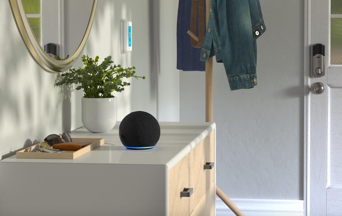 Amazon Echo Dot 2020 in antraciet.