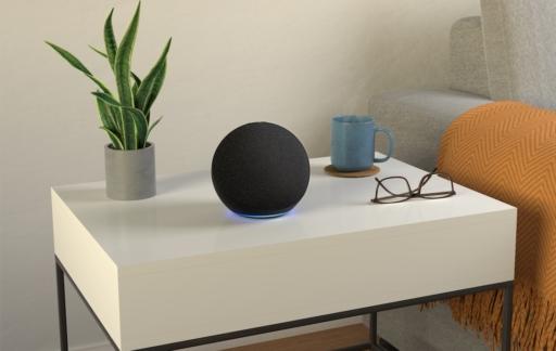 Amazon Echo 2020 in antraciet.