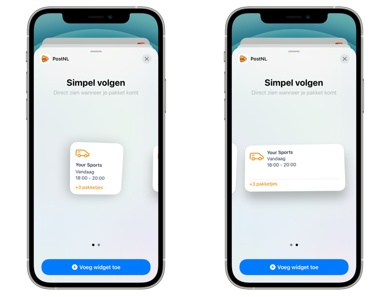 PostNL widget in iOS 14.