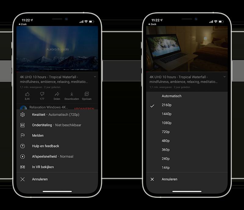 YouTube 4K kijken op iPhone