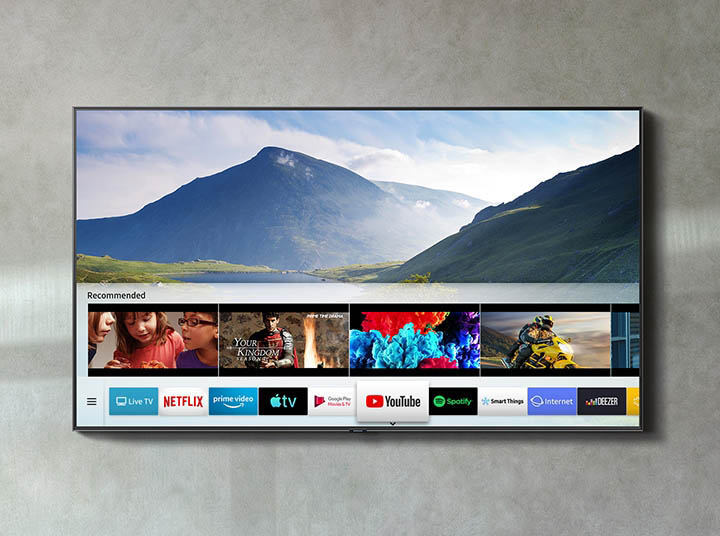 Smart TV met YouTube in 4K