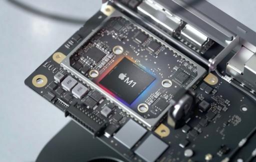 M1 chip in moederbord