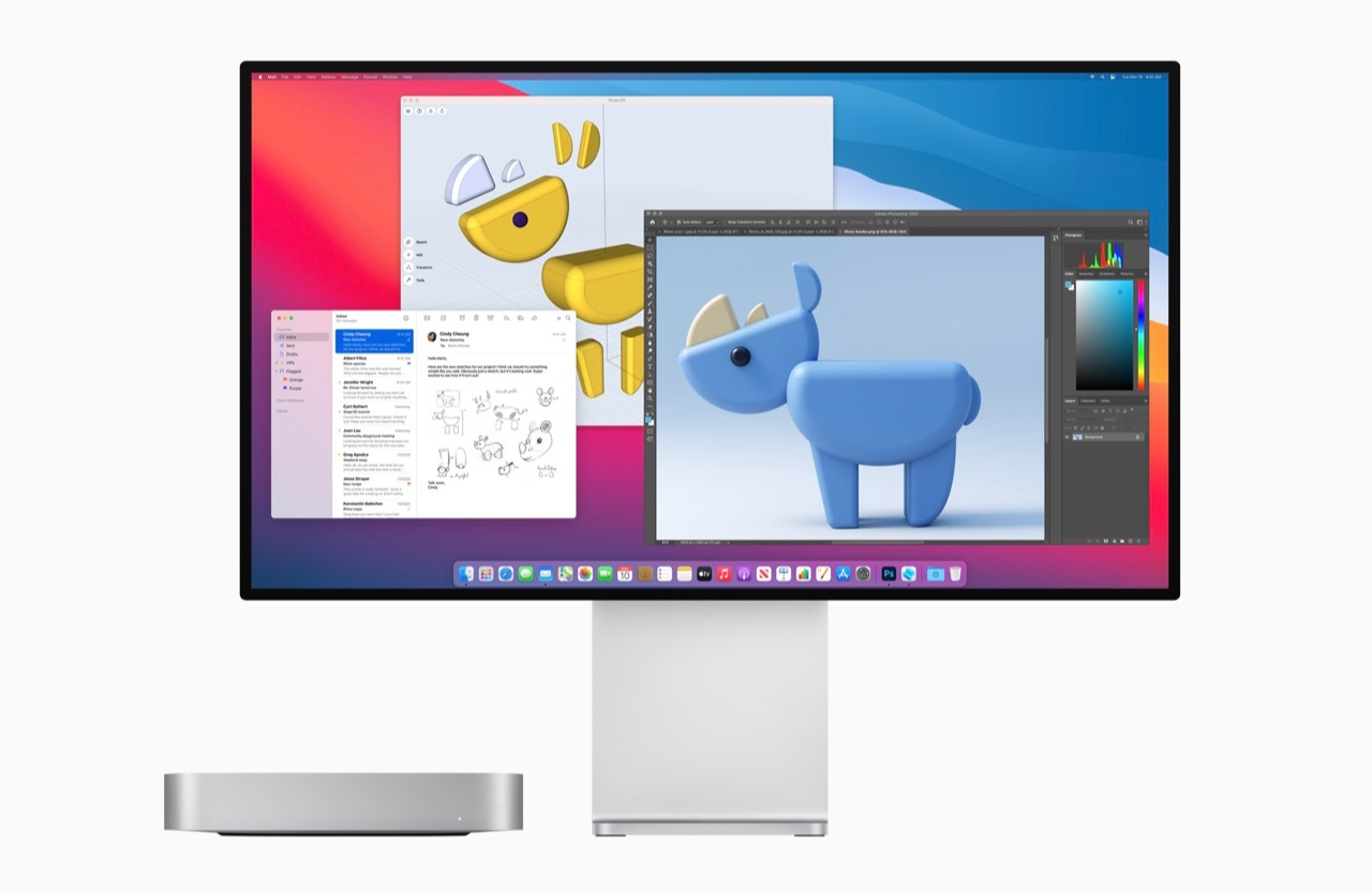 Mac mini met Pro Display XDR