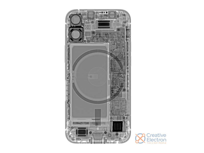iFixit iPhone 12 mini röntgenfoto