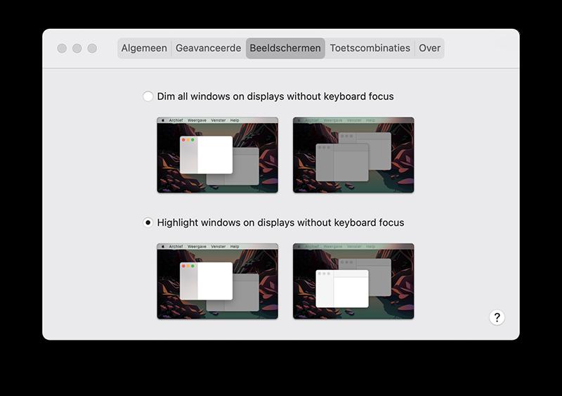 HazeOver beeldschermen
