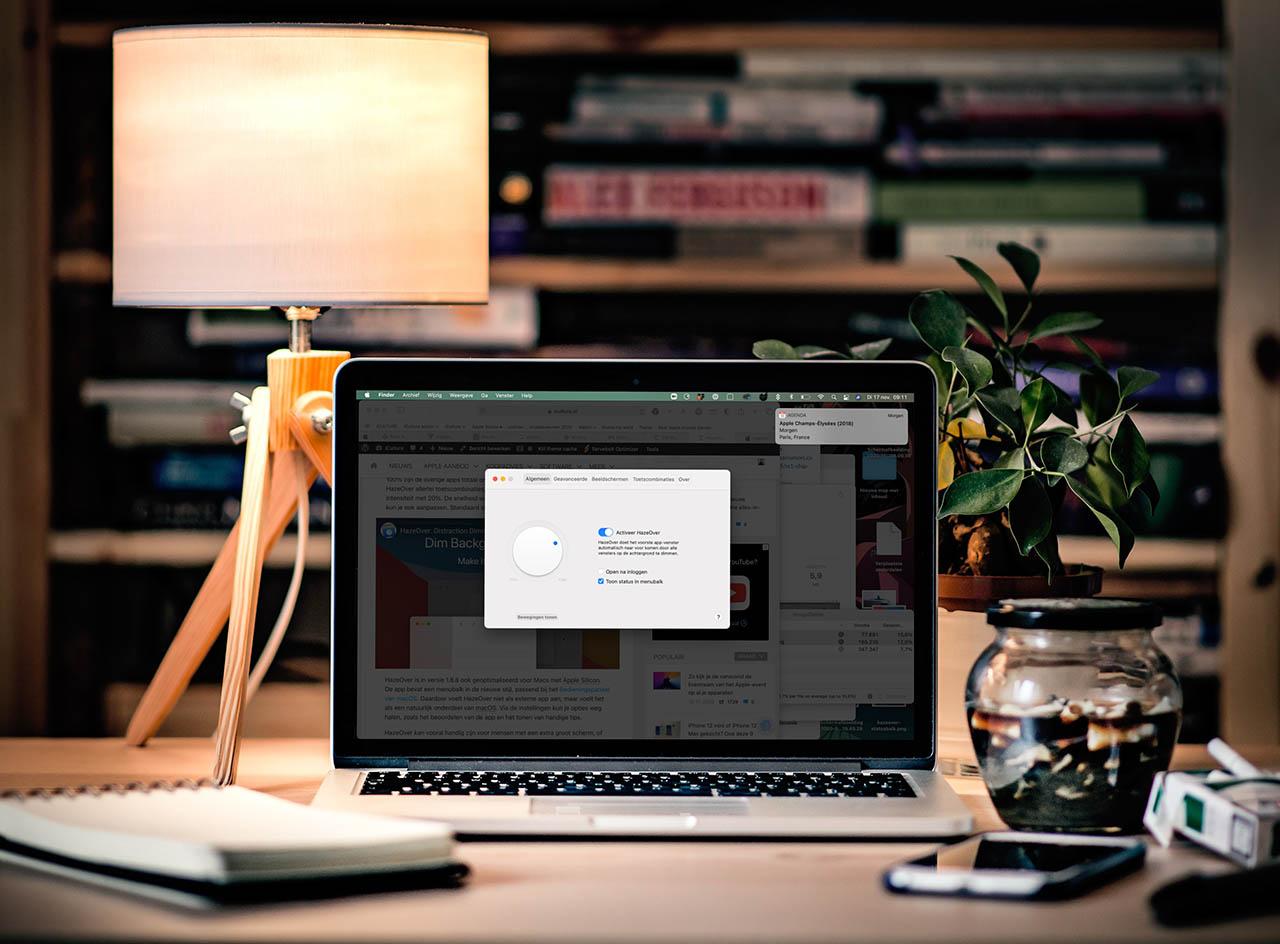 HazeOver op een MacBook met Big Sur