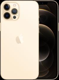 iPhone 12 Pro Max in goud.