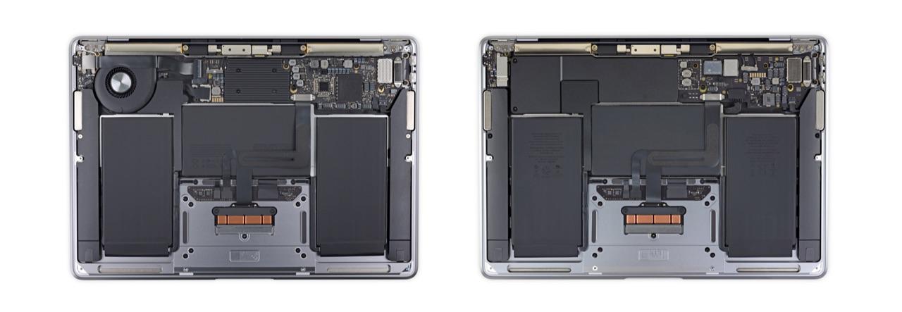 iFixit MacBook Air M1 teardown ventilator