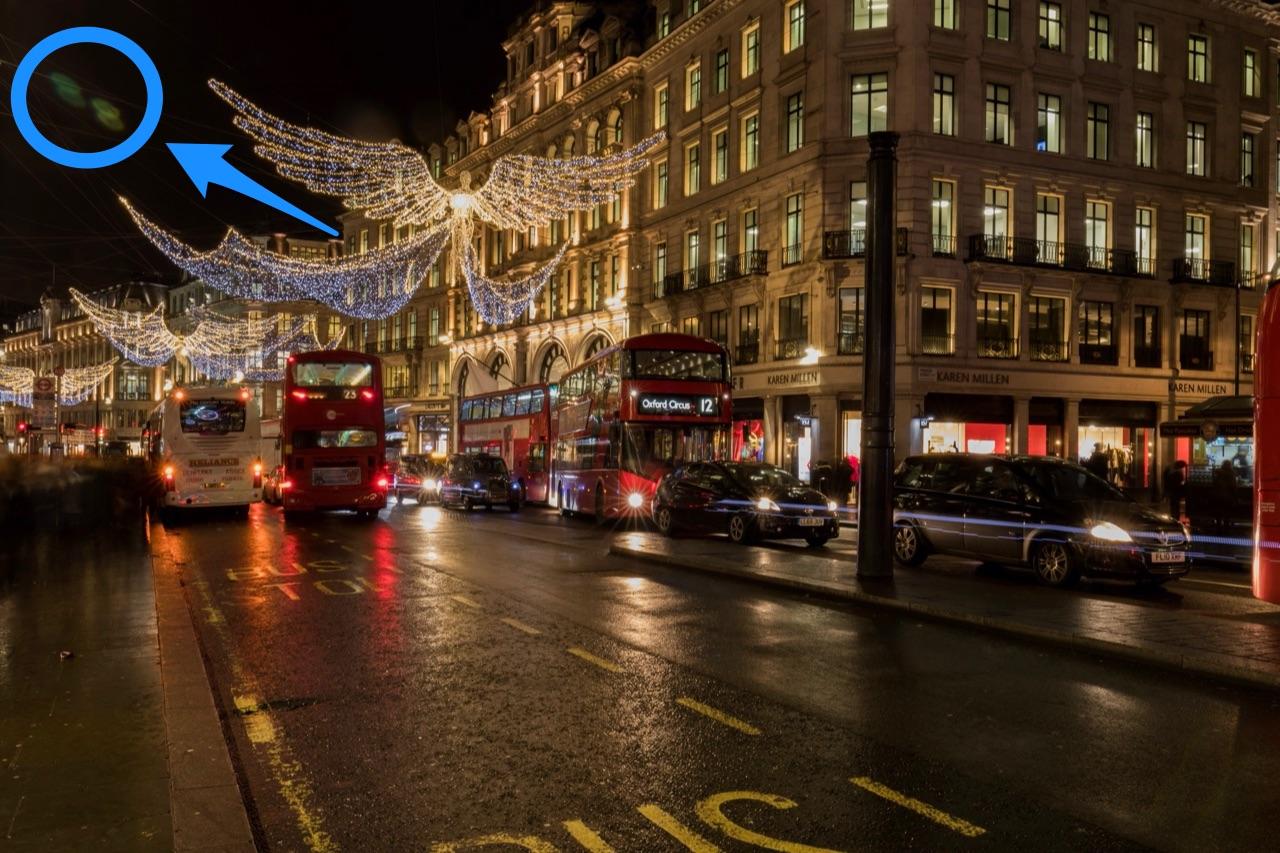 Londen foto met lens flare