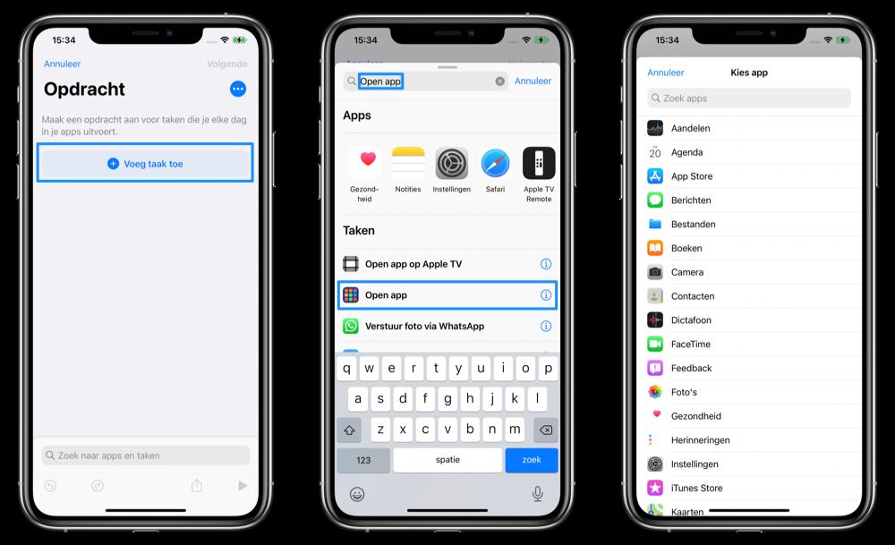 App icoontjes aanpassen stappenplan