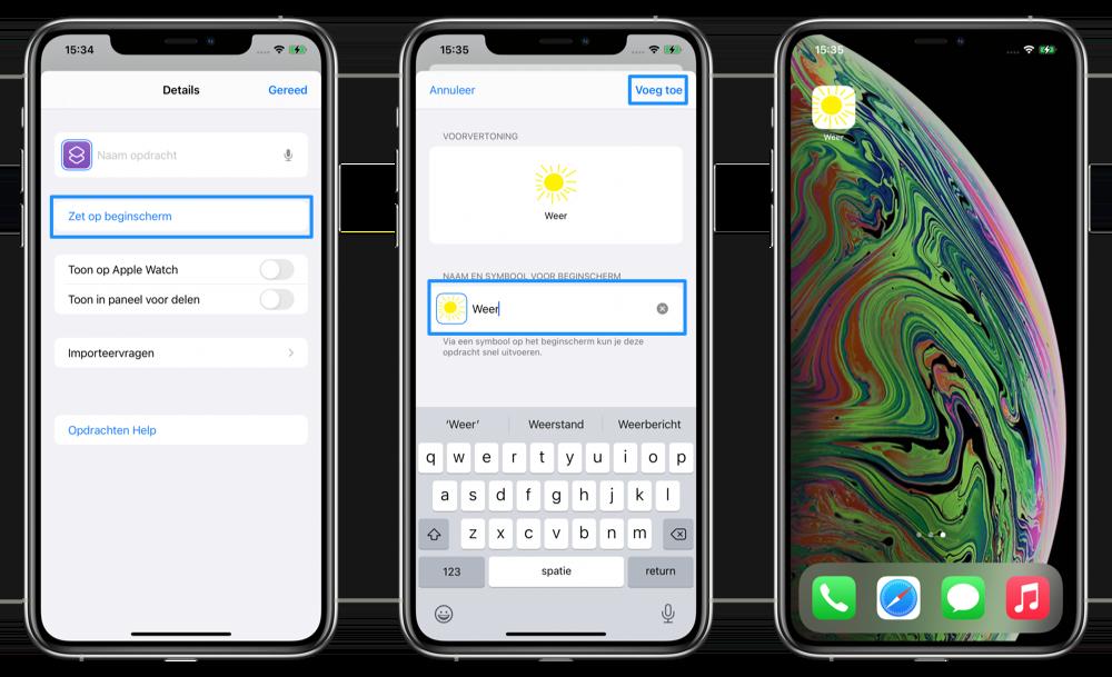 App icoontjes aanpassen stappenplan 2